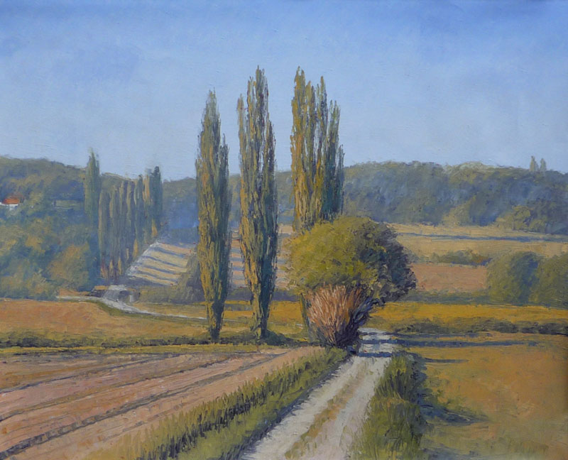 Tom Young - Poplars près de Montaigu, France